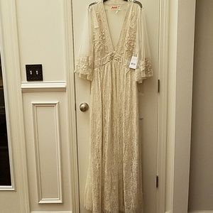 NWT Free People lace/embroidered dress